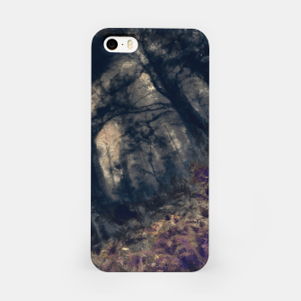 Thumbnail image of abstract misty forest painting hvhd hfall iPhone Case, Live Heroes