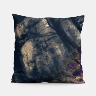 Miniature de image de abstract misty forest painting hvhd hfall Pillow, Live Heroes