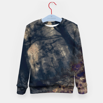 Miniature de image de abstract misty forest painting hvhd hfall Kid's sweater, Live Heroes
