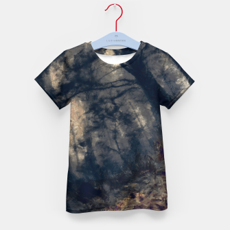 Miniature de image de abstract misty forest painting hvhd hfall Kid's t-shirt, Live Heroes