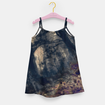 Miniature de image de abstract misty forest painting hvhd hfall Girl's dress, Live Heroes