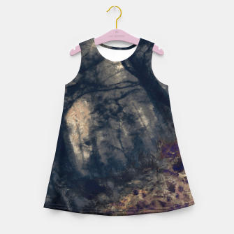 Miniature de image de abstract misty forest painting hvhd hfall Girl's summer dress, Live Heroes