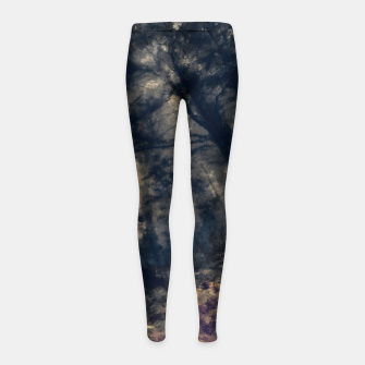 Miniature de image de abstract misty forest painting hvhd hfall Girl's leggings, Live Heroes