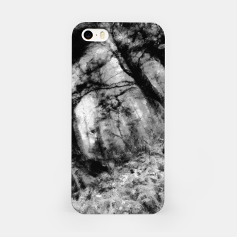 Miniature de image de abstract misty forest painting hvhd hfbw iPhone Case, Live Heroes