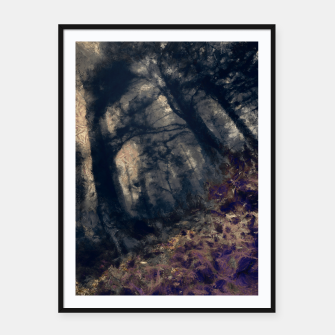 Miniature de image de abstract misty forest painting hvhd hfall Framed poster, Live Heroes