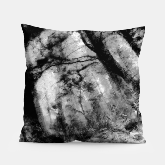 Miniature de image de abstract misty forest painting hvhd hfbw Pillow, Live Heroes