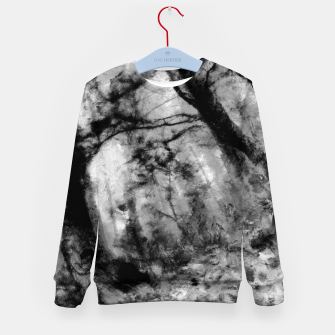 Miniature de image de abstract misty forest painting hvhd hfbw Kid's sweater, Live Heroes