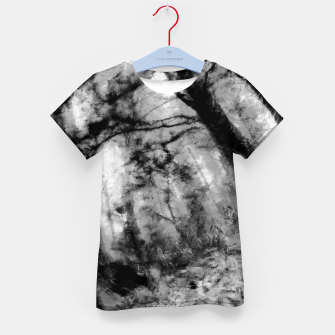 Miniature de image de abstract misty forest painting hvhd hfbw Kid's t-shirt, Live Heroes