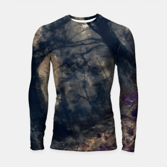 Thumbnail image of abstract misty forest painting hvhd hfall Longsleeve rashguard , Live Heroes