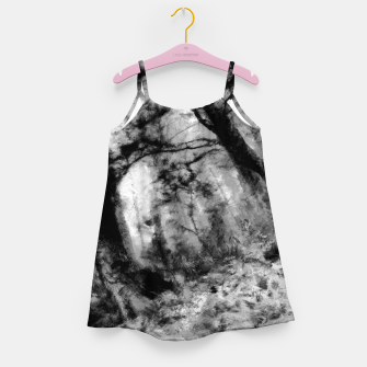 Miniature de image de abstract misty forest painting hvhd hfbw Girl's dress, Live Heroes