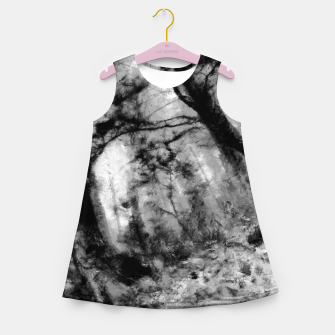 Miniature de image de abstract misty forest painting hvhd hfbw Girl's summer dress, Live Heroes