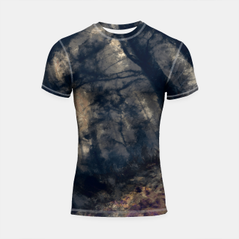 Miniature de image de abstract misty forest painting hvhd hfall Shortsleeve rashguard, Live Heroes