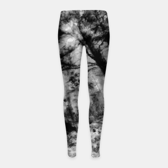 Miniature de image de abstract misty forest painting hvhd hfbw Girl's leggings, Live Heroes