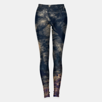 Miniature de image de abstract misty forest painting hvhd hfall Leggings, Live Heroes