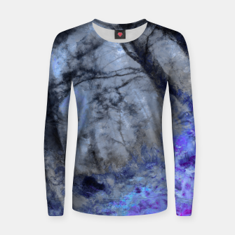 Miniature de image de abstract misty forest painting hvhd hfc80 Women sweater, Live Heroes