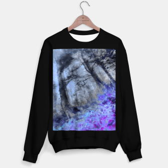 Miniature de image de abstract misty forest painting hvhd hfc80 Sweater regular, Live Heroes