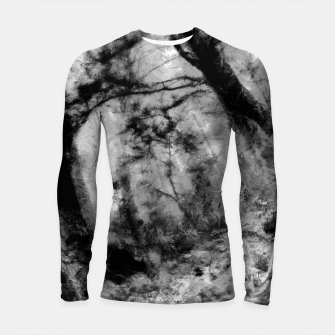 Miniature de image de abstract misty forest painting hvhd hfbw Longsleeve rashguard , Live Heroes