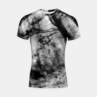 Miniature de image de abstract misty forest painting hvhd hfbw Shortsleeve rashguard, Live Heroes