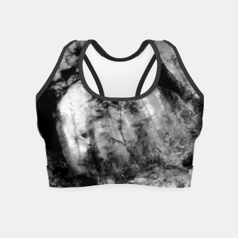Miniature de image de abstract misty forest painting hvhd hfbw Crop Top, Live Heroes