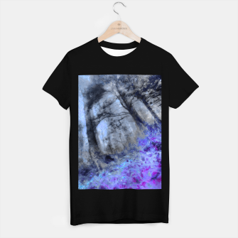 Miniature de image de abstract misty forest painting hvhd hfc80 T-shirt regular, Live Heroes