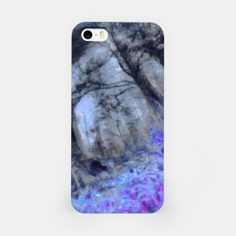 Miniature de image de abstract misty forest painting hvhd hfc80 iPhone Case, Live Heroes