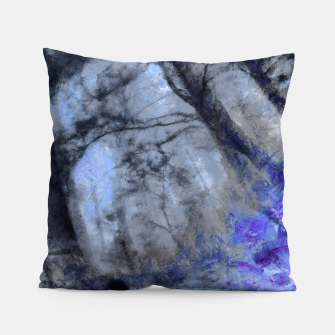Miniature de image de abstract misty forest painting hvhd hfc80 Pillow, Live Heroes