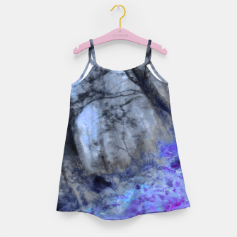 Miniature de image de abstract misty forest painting hvhd hfc80 Girl's dress, Live Heroes