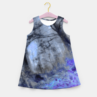 Miniature de image de abstract misty forest painting hvhd hfc80 Girl's summer dress, Live Heroes