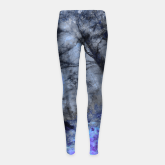 Miniature de image de abstract misty forest painting hvhd hfc80 Girl's leggings, Live Heroes