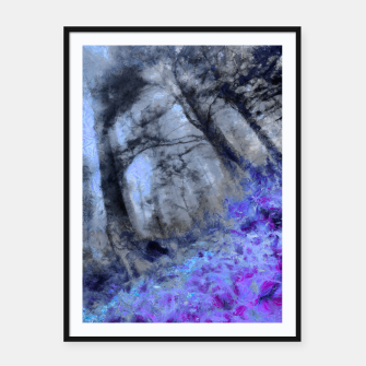 Miniature de image de abstract misty forest painting hvhd hfc80 Framed poster, Live Heroes