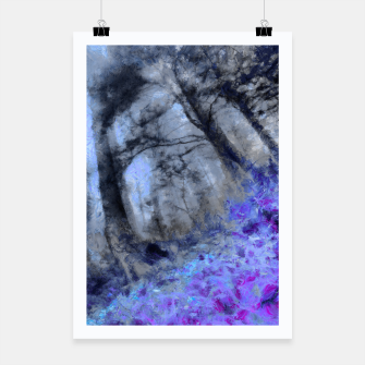 Miniature de image de abstract misty forest painting hvhd hfc80 Poster, Live Heroes