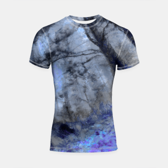 Miniature de image de abstract misty forest painting hvhd hfc80 Shortsleeve rashguard, Live Heroes