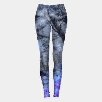 Miniature de image de abstract misty forest painting hvhd hfc80 Leggings, Live Heroes