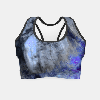 Miniature de image de abstract misty forest painting hvhd hfc80 Crop Top, Live Heroes