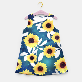 Thumbnail image of Sunflower pattern galaxy Girl's summer dress, Live Heroes