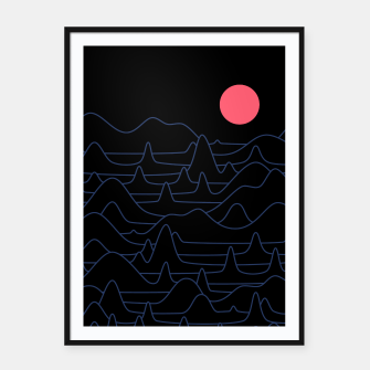 Miniatur Mountain Line Framed poster, Live Heroes