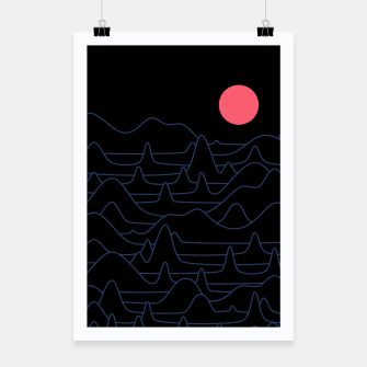 Miniatur Mountain Line Poster, Live Heroes