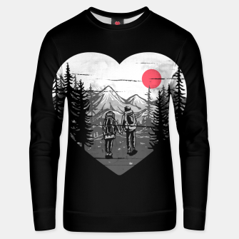 Miniatur Hike and Love Unisex sweater, Live Heroes