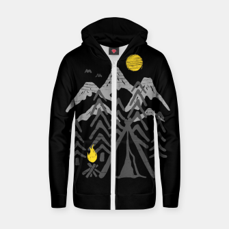 Miniatur Camp Fire Zip up hoodie, Live Heroes