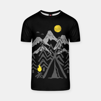 Miniatur Camp Fire T-shirt, Live Heroes