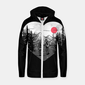 Miniatur Hike and Love Zip up hoodie, Live Heroes