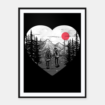 Miniatur Hike and Love Framed poster, Live Heroes
