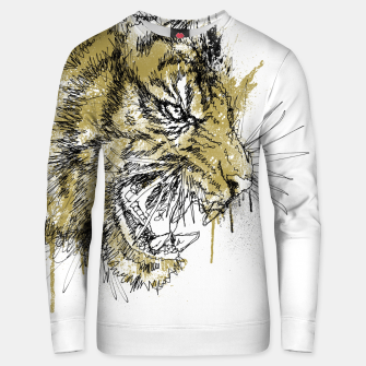 Thumbnail image of Tiger Roar scratch Unisex sweater, Live Heroes