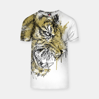 Thumbnail image of Tiger Roar scratch T-shirt, Live Heroes