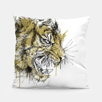 Thumbnail image of Tiger Roar scratch Pillow, Live Heroes