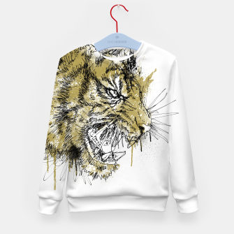 Thumbnail image of Tiger Roar scratch Kid's sweater, Live Heroes