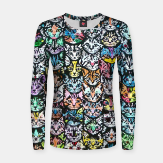 Miniatur Colorful Cats Women sweater, Live Heroes