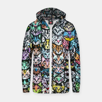 Miniatur Colorful Cats Zip up hoodie, Live Heroes