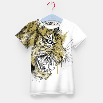 Thumbnail image of Tiger Roar scratch Kid's t-shirt, Live Heroes