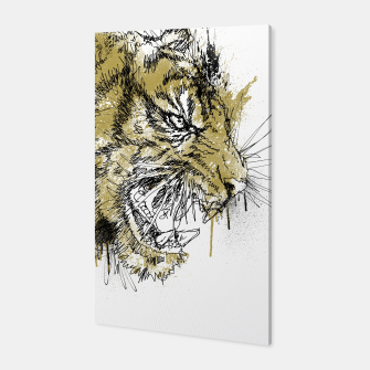 Thumbnail image of Tiger Roar scratch Canvas, Live Heroes